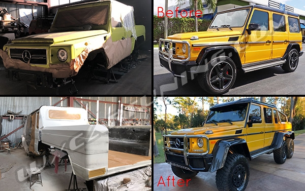 Remake your Mercedes Benz G class to G63 AMG 6x6: