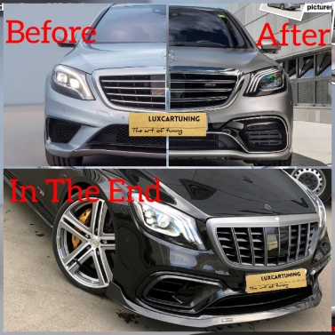 S63 AMG 2018MY + Brabus Upgrade your S class 2013-2017MY to 2018MY facelift S63 AMG + Brabus 700 Carbon conversion look: