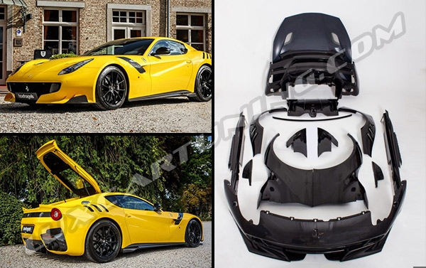 Soon in LuxCarTuning | TDF (Tour de France ) Limited Edition body kit for Ferrari F12 Berlinetta:
