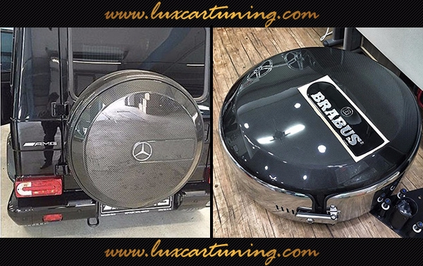 Spare tire carbon cover for Your Mercedes Benz G class W463