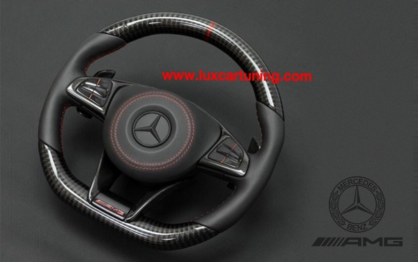 Steering wheel AMG 63 edition with Red and Carbon elements for Mercedes Benz S class W222
