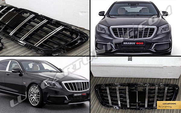 Vertical grill Brabus Maybach style for Your Mercedes Benz S class W222 and Maybach S600 X222.