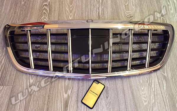 Vertical radiator grill Brabus Maybach style for Your Mercedes Benz S class W222 and Maybach S600 X222