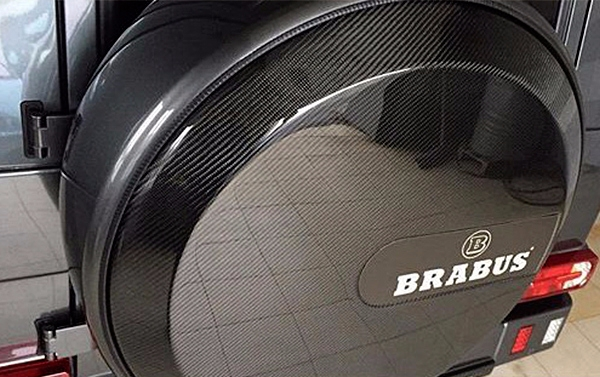 Carbon pad on spare wheel for Mercedes Benz G class