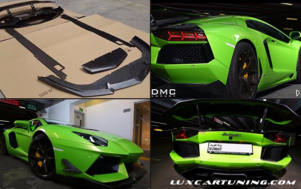 Carbon body kit DMC DIECI for Lamborghini Aventador Lp700-4; front lip by 2 parts, side skirts, rear diffusor, spoiler