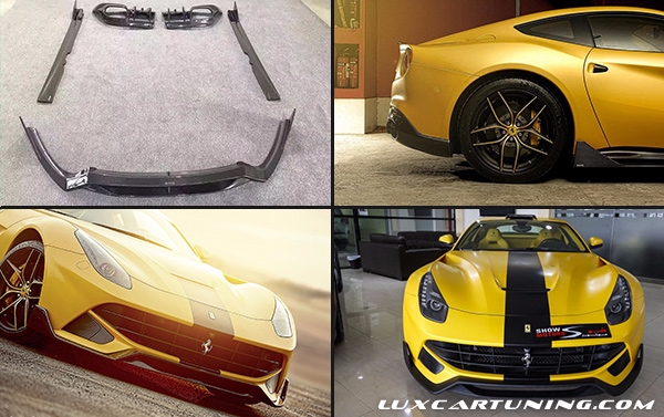 Carbon fiber body kit DMC for Ferrari F12 Berlinetta: front lip, side skirts, rear diffusor