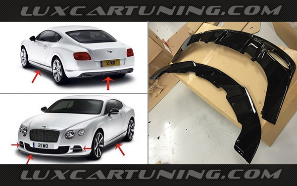 Full carbon fiber body kit Mulliner Aero kit for Bentley Continental GT 2