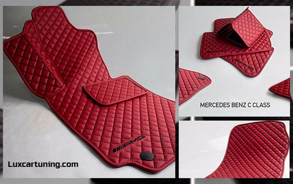 Carpets set by AMG style for Mercedes Benz C class W205: in set 5 pcs