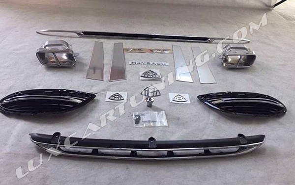 Full kit and wheels to convert Mercedes S500 AMG W222 to Maybach S600