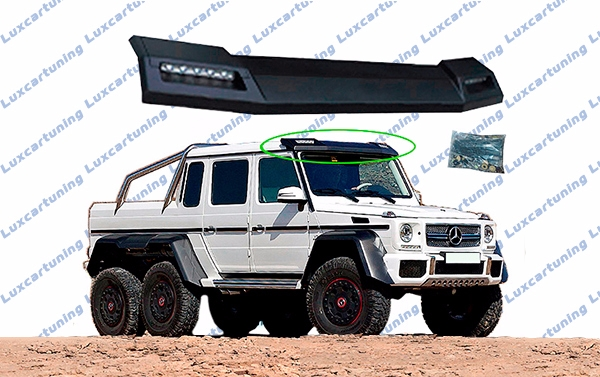 Roof spoiler with LED by 6x6 AMG style for Mercedes Benz G class W463