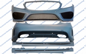 Body kit AMG for Mercedes Benz C class W205: front bumper set, side skirts, rear bumper set