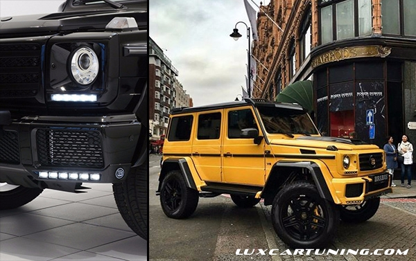 New style front lip B style from 2 parts on bumpers with chrome pads for Mercedes Benz G class all models with 63 bumper