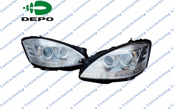 Facelift headlights DEPO for Mercedes Benz S class W211