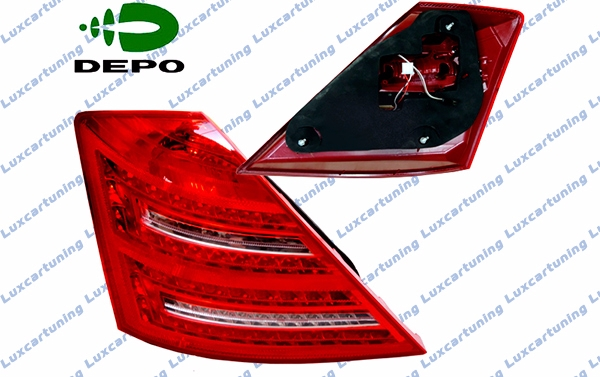 Facelift taillights DEPO for Mercedes Benz S class W221