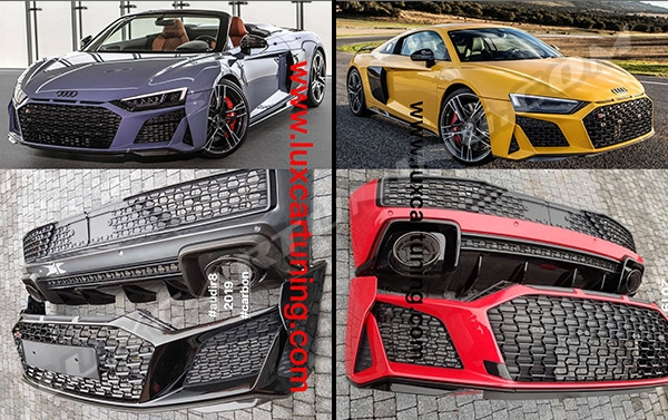 2019 MY facelift bumpers kit with Carbon Audi Sport package for Audi R8: