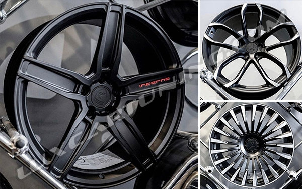 3 different kid of beautiful and strong wheels by @topcar_design for Mercedes G glass W463A