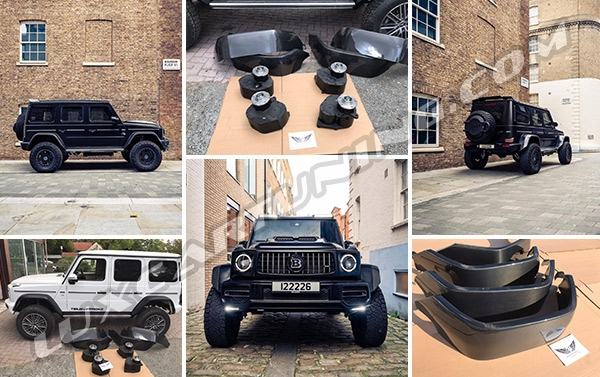4x4 square conversion full kit for Mercedes Benz G500 and G63 AMG W463A.