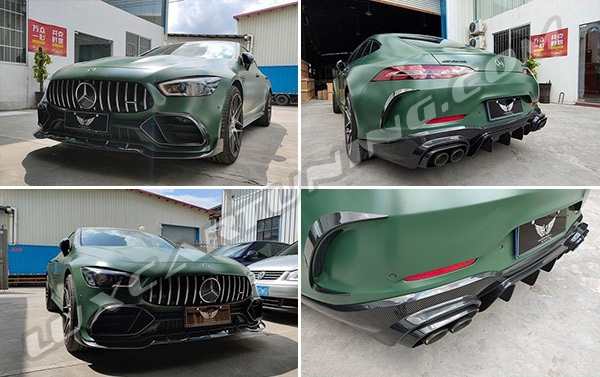 Aerodynamic body kit in dry carbon for Mercedes Benz GT AMG X290 available in stock
