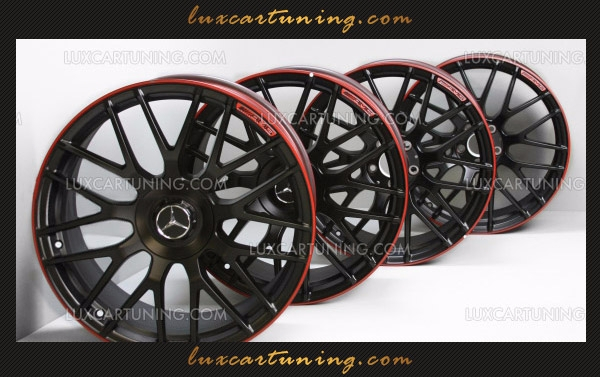 AMG R19 Set of Forged Wheels with Red Edge C-Class