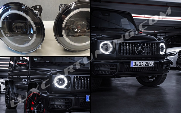 Black Edition Original headlights for New Mercedes Benz G63 AMG W463A....