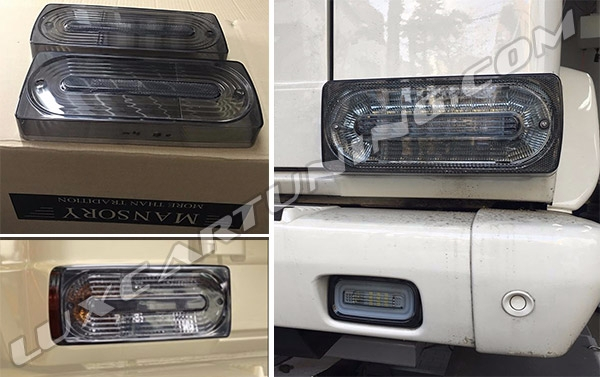 Black smocked taillights from MANSORY for Mercedes Benz G class W463 (also G500 4x4 and G63 AMG 6x6)