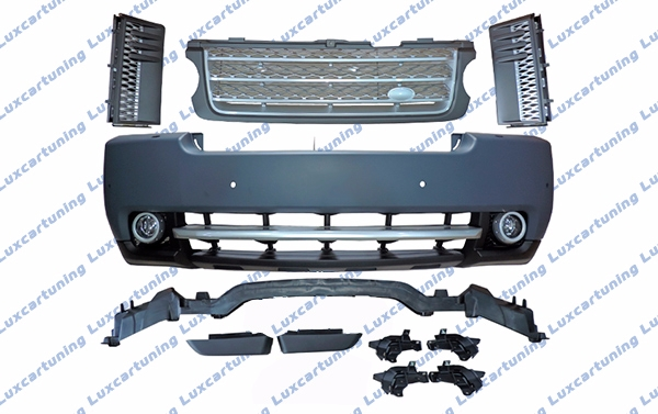 Body kit SuperCharge for Range Rover vogue till 2013: front bumper set, assembly, fog lamps, grills set