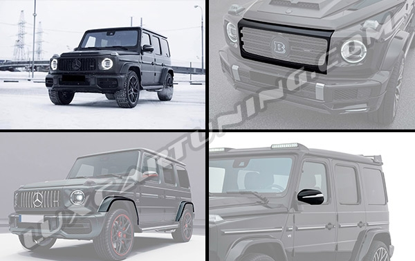 Carbon fiber exterior body kit for Mercedes Benz G63 AMG W463A: