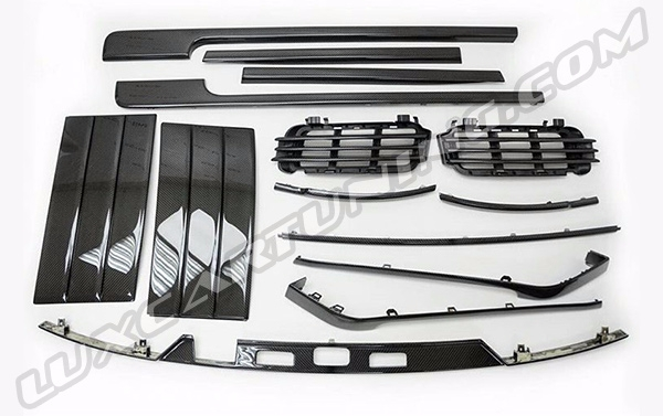 Carbon fiber exterior trims set for You Range Rover Vogue L405