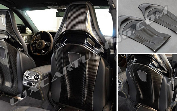 Carbon fiber front seats covers will make interior of Mercedes Benz GT AMG X290 more sport and luxury