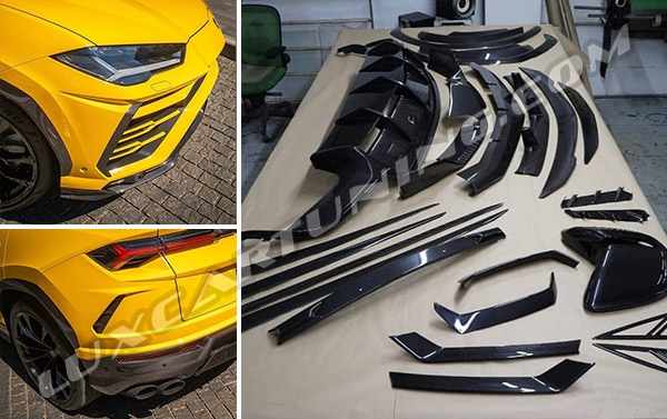 Carbon fiber OEM style exterior kit for Lamborghini Urus available for order in @luxcartuning_official.