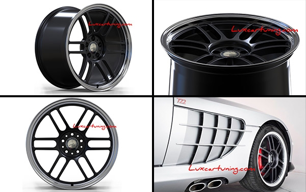 EXCLUSIVE | 722 Edition Monoblock R19 forged wheels (J9 for front J11.5 for rear) for Mercedes SLR Mclaren.