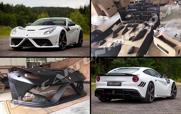 ► Exclusive | Mansory STALONNNE full carbon body kit for your Ferrari F12: