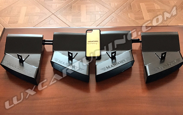 Exhaust tips Mansory style for Mercedes Benz G class W463, G500 4x4, G63 AMG 6x6