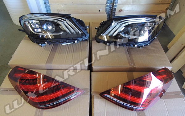 Facelift 2017/18 front headlights set and taillights set for Your Mercedes Benz S class W222 and Maybach S600 X222 2013-17 model