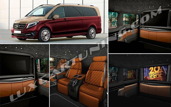 Finally….. @mbs_automotive present luxury multioptional comfort seats with central consolium for Mercedes Benz V class W447.