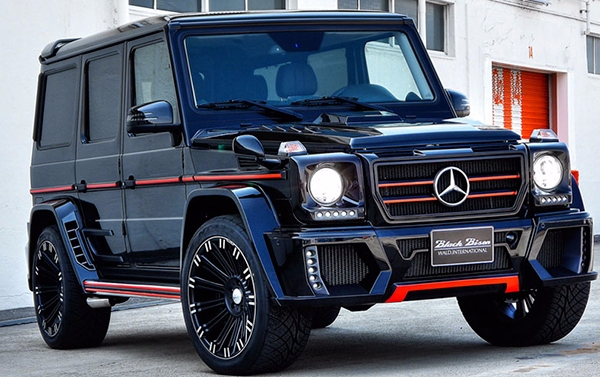 Full body kit WALD for Mercedes Benz G class W463: front bumper set, grill, hood, wheel arches, pads on rear doors, rear bumper set, roof spoiler