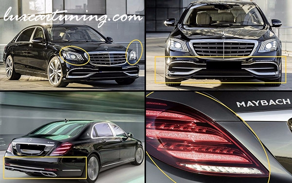 Full conversion body kit MAYBACH S560 X222: You can convert Your S class W222 or Maybach S600 2013-16 model to MAYBACH S560 2018 model:
