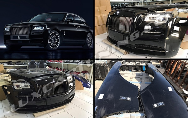 Full facelift original body kit to upgrade Rolls Royce Ghost I to Ghost II: