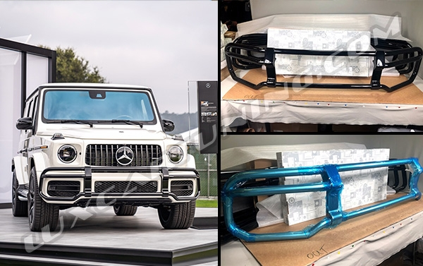 In stock | 2018 MY front protection bull bar silver and black colors for Mercedes Benz G63 AMG up to 2018 model.