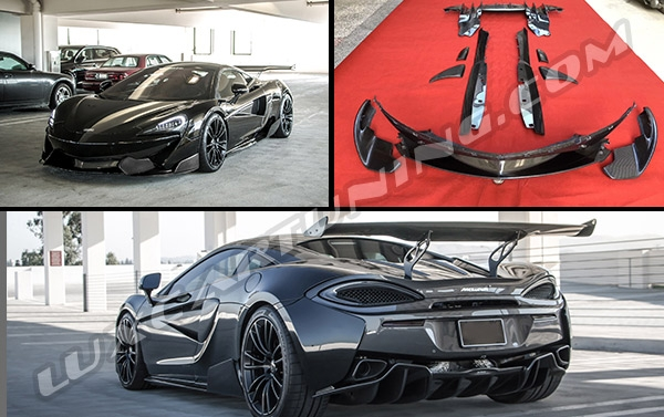 Full carbon fiber exterior body kit for Mclaren 540c, 570s, 570GT: