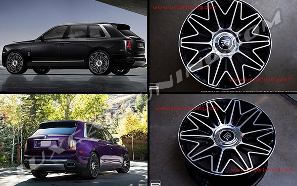 ❗️In stock | PUR RS37.V2 R24 wonderful forged wheels in Gloss Brilliant Silver face and Gloss Black Window for Rolls Royce Cullinan.