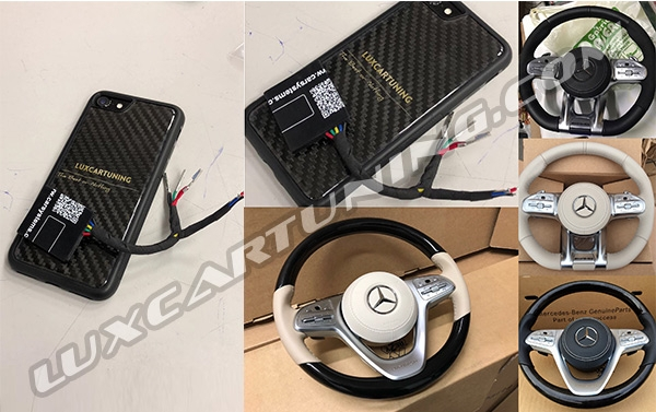 In Stock / Retrofit adapter for facelift steering wheels S63, AMG, Maybach for Mercedes Benz S class W222, Maybach X222, S coupe C 217.