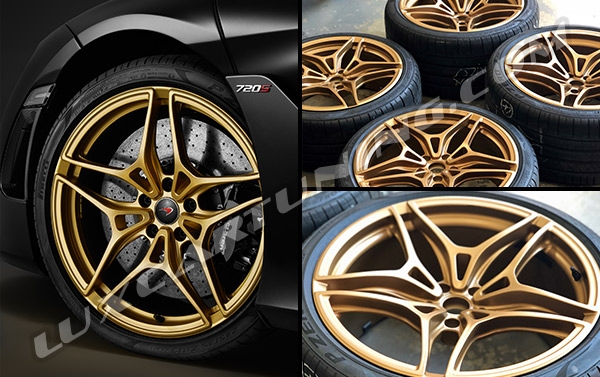 Limited Edition MSO Gold Edition original wheels for McLaren 720s.