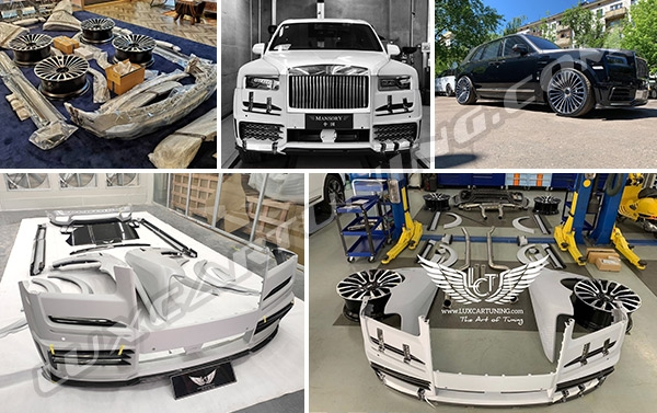 M style wide body kit for Rolls Royce Cullinan: make your Cullinan more exclusive with this beautiful kit: 100% fitment, warranty of quality, free worldwide shipping.