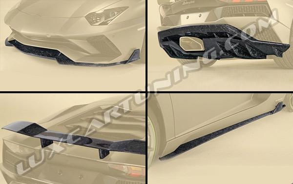 Mansory forged carbon aero kit for Lamborghini Aventador S available for order.