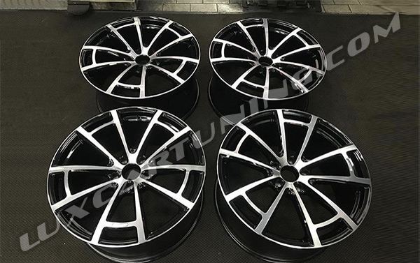Mansory Spider R22 Black Diamond and Silver Diamond wheels for Your Bentley Bentayga.