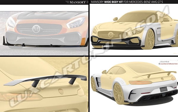 Mansory wide body kit for Your Mercedes Benz AMG GT/S :