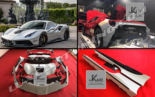 Misha Design full carbon body kit for Ferrari 488 GTB: