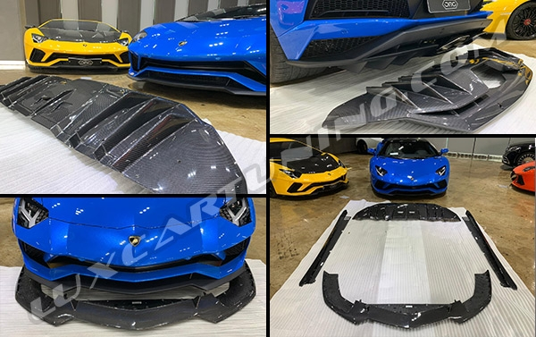 OEM style full carbon fiber body kit for Lamborghini Aventador S: