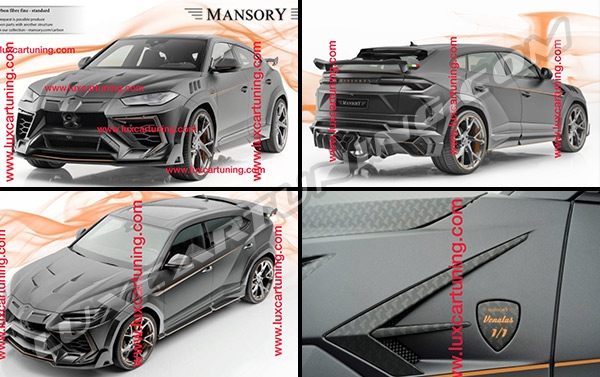 Original MANSOR competition body kit for Lamborghini Urus: